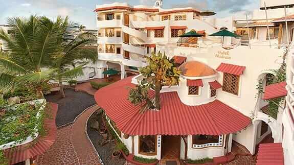 exterior view of Hotel Mainao, Puerto Ayora, Santa Cruz, Galapagos