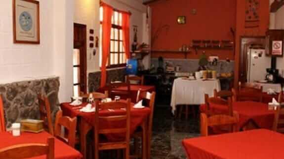 breakfast restaurant of hotel pimampiro, baquerizo moreno town san cristobal island galapagos