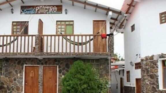 facade of exterior of hotel pimampiro at baquerizo moreno town galapagos