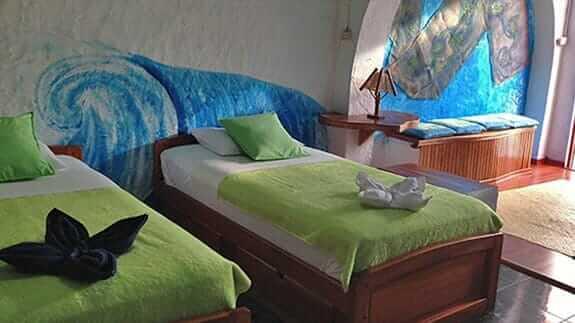 twin room at Hotel Casa Blanca, baquerizo moreno Galapagos islands
