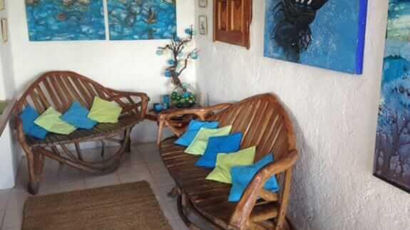 guest social area Hotel Casa Blanca, baquerizo moreno