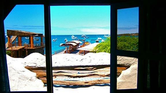 view of the ocean at Hotel Casa Blanca, San Cristobal, Galapagos