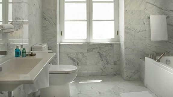 casa gangotena hotel quito - guest bathroom and shower