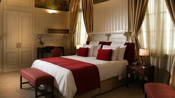 casa gangotena hotel quito - double bedroom