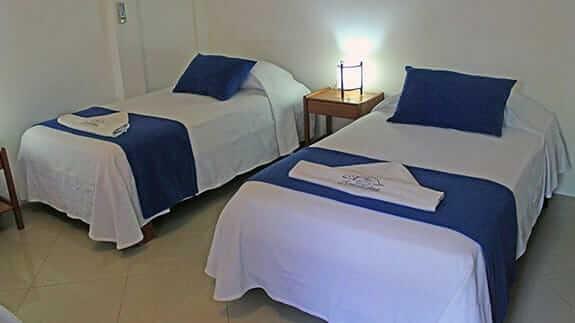 twin bedroom at hotel fernandina puerto ayora galapagos