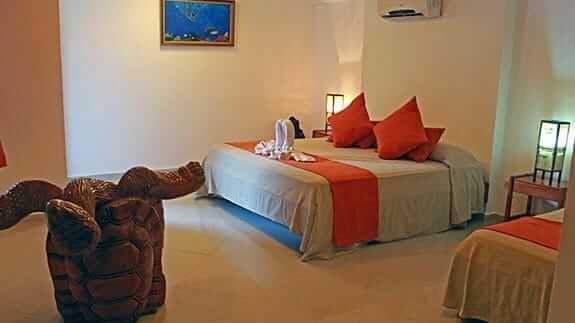 double bedroom at hotel fernandina puerto ayora galapagos