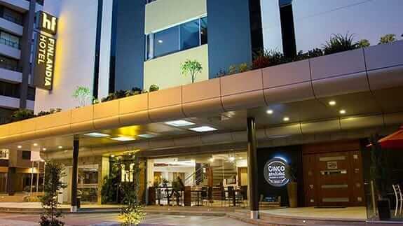 main entrance to hotel finlandia in quito ecuador