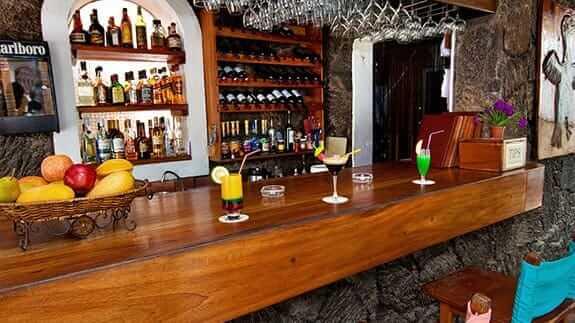 hotel silberstein bar area, puerto ayora galapagos islands