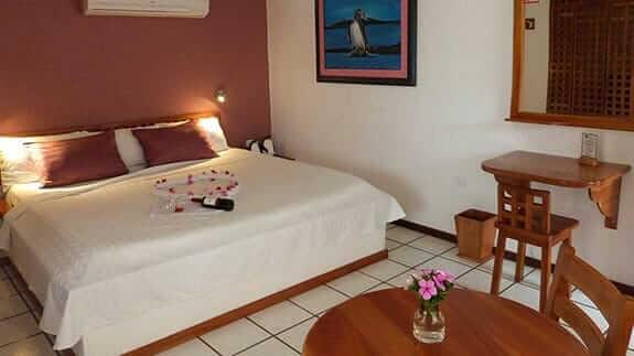 double bedroom at hotel silberstein, puerto ayora galapagos islands