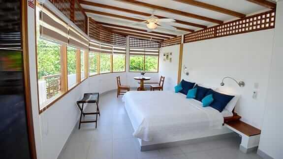 double bedroom at hotel silberstein, puerto ayora galapagos