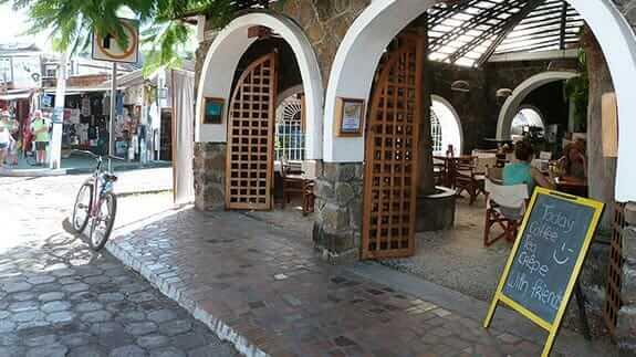 entrance to hotel silberstein, puerto ayora galapagos