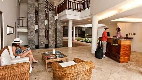 Hotel sol y mar reception area