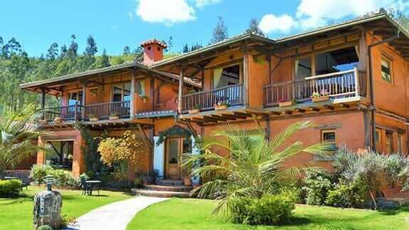 exterior of the ilatoa lodge hotel quito