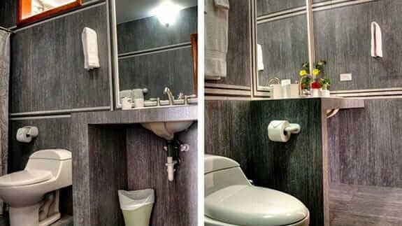 guest bathroom at isabela beach house, isabela island