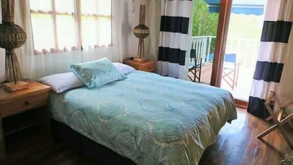 double bedroom at isabela beach house, puerto villamil, galapagos islands