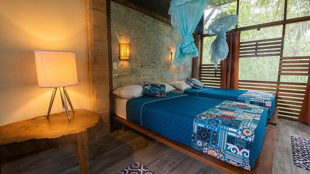twin bedroom suite at Jamu lodge Cuyabeno reserve ecuador