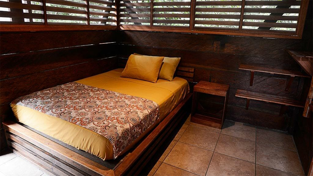 single bedroom at Jamu lodge Cuyabeno rainforest ecuador