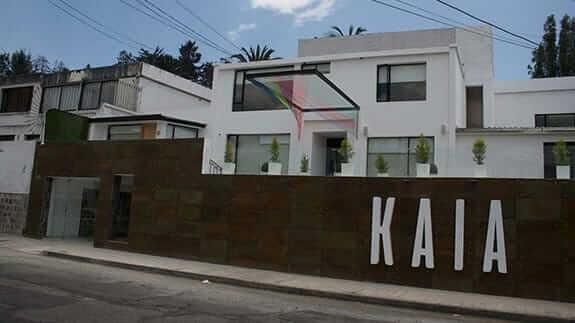 main entrance to kaia hotel quito ecuador
