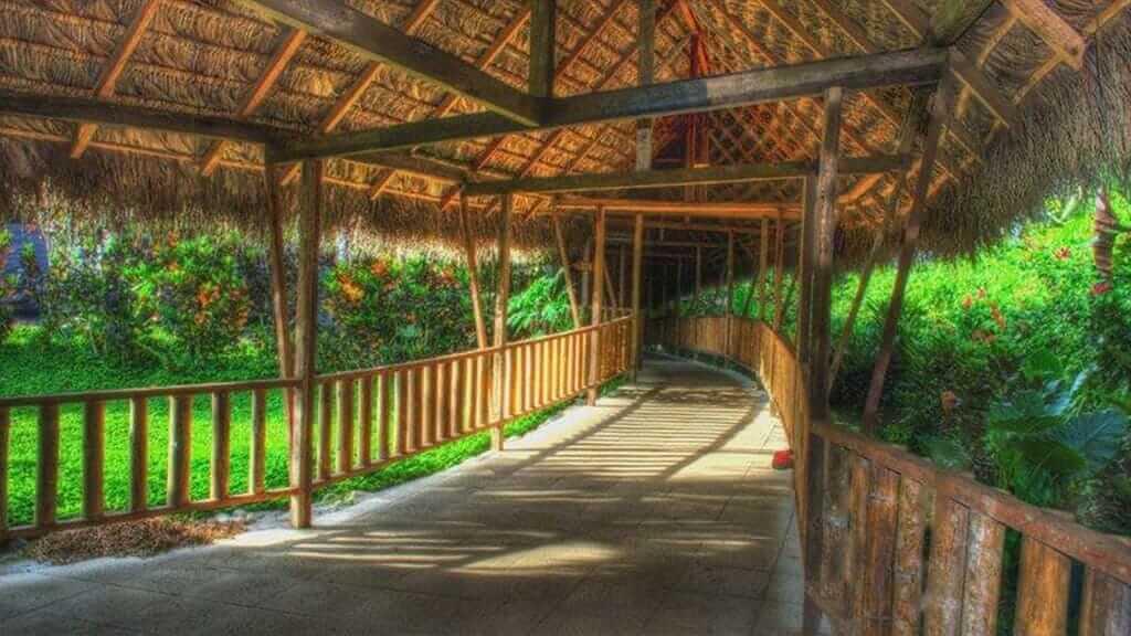 Casa del suizo lodge amazon covered walkway through the jungle
