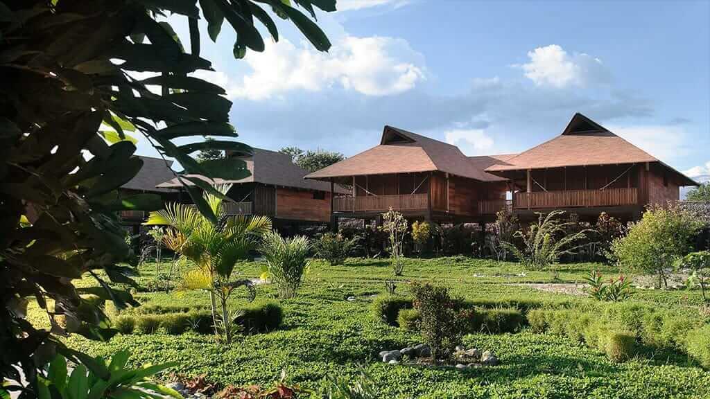 cabins at Casa del suizo jungle lodge