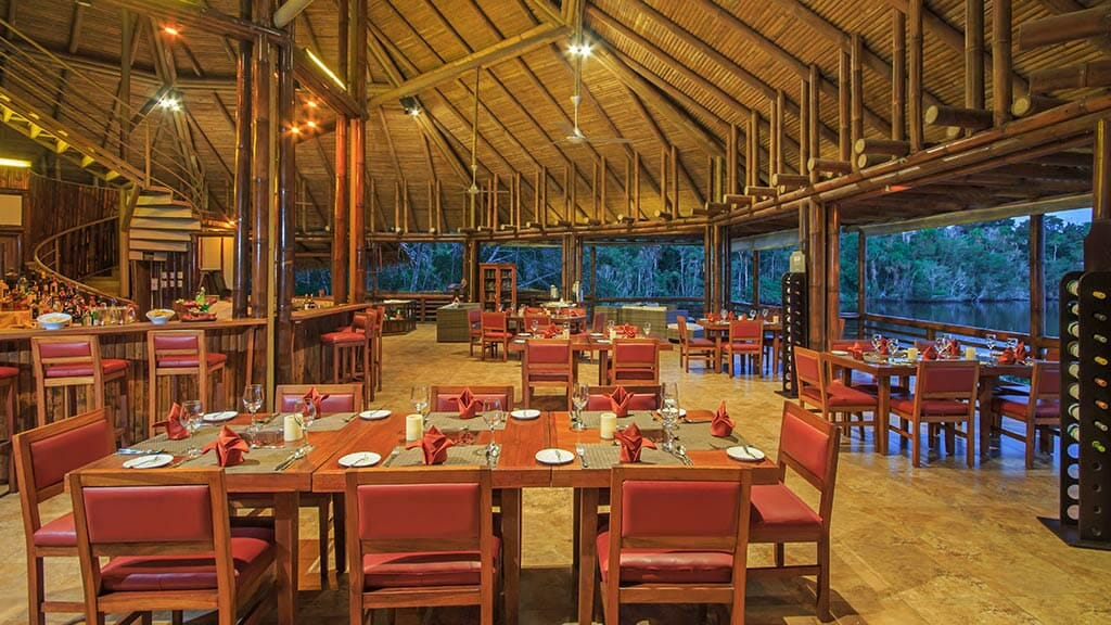 La Selva lodge open air restaurant