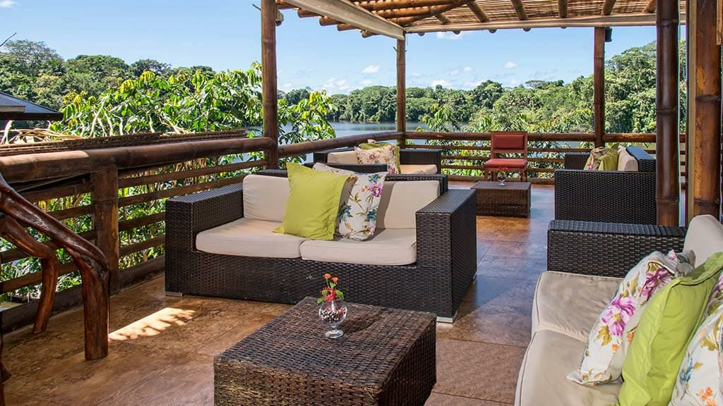 social lounge area at La Selva lodge
