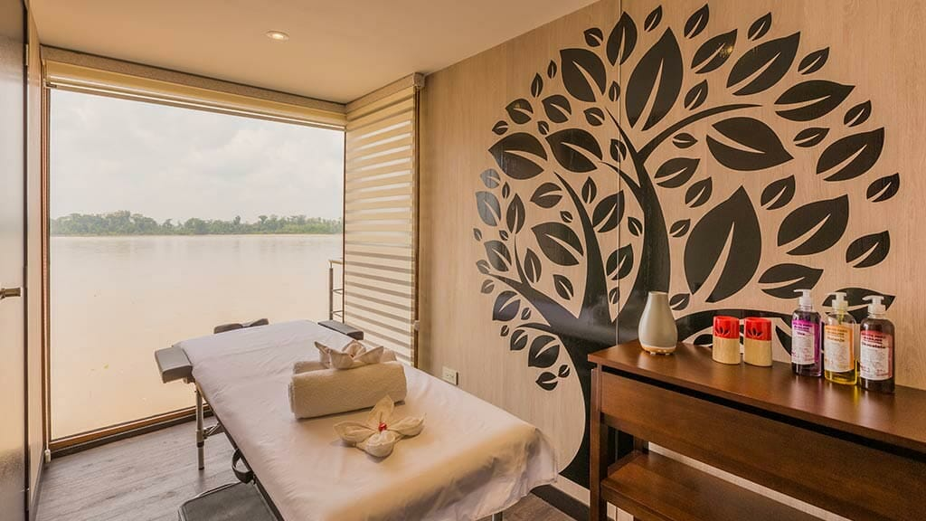 massage table in the Manatee Explorer Cruise spa