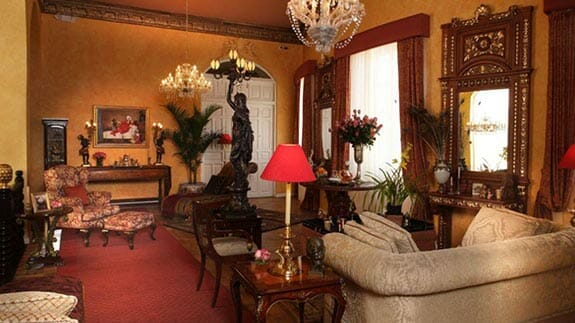 elegant decoration of social lounge at mansion del angel hotel quito ecuador