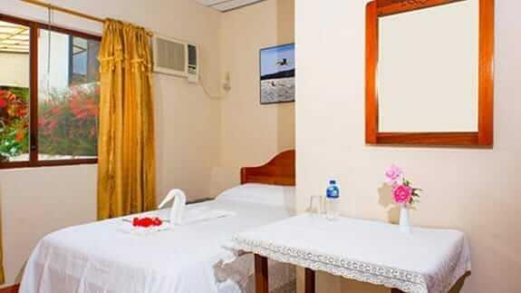 single room at Hotel Mar Azul, baquerizo moreno, San Cristobal, Galapagos islands