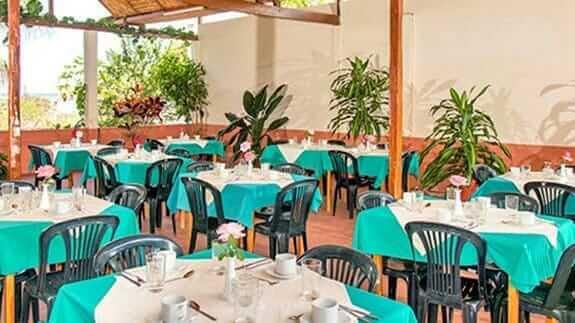 restaurant area Hotel Mar Azul, baquerizo moreno, San Cristobal, Galapagos islands