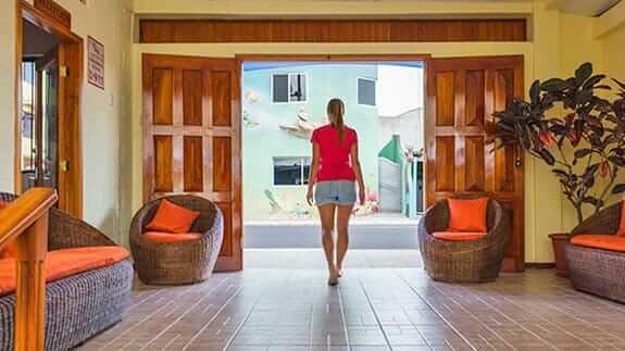 entrance to Hotel Mar Azul, baquerizo moreno, San Cristobal, Galapagos islands