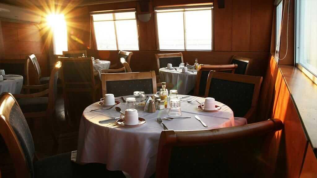 Millenium Galapagos catamaran yacht - dining room