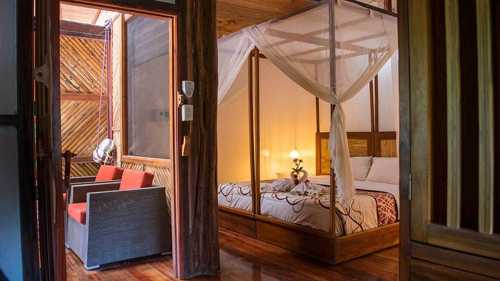 Napo cultural center double bed cabin in the amazon rainforest