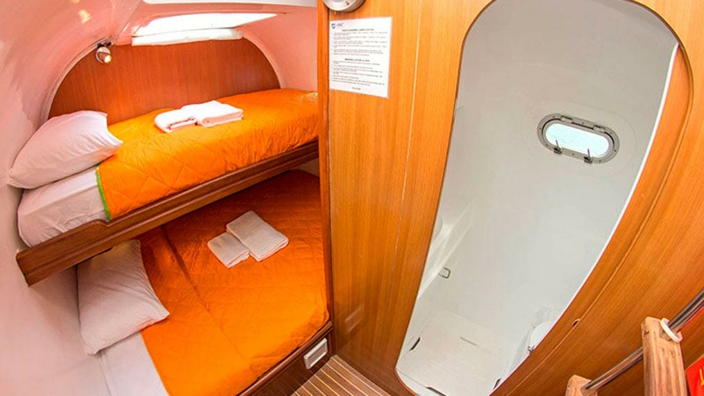 nemo 1 galapagos catamaran yacht twin bunk cabin