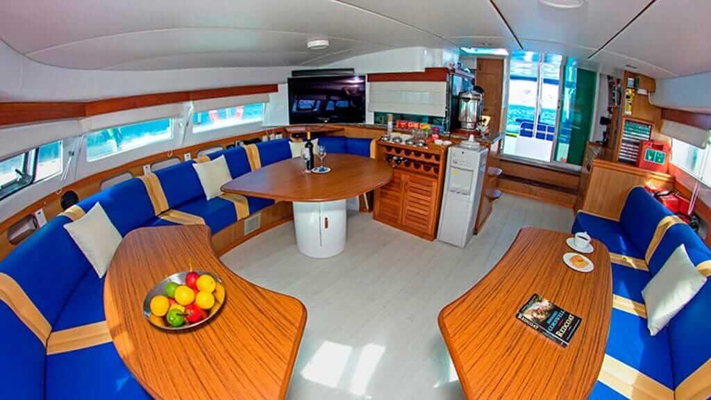 nemo 1 catamaran galapagos - social lounge
