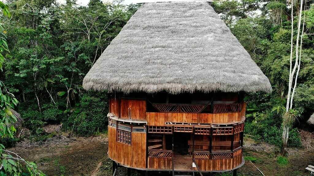 piranha lodge cuyabeno rustic style cabin in the jungle