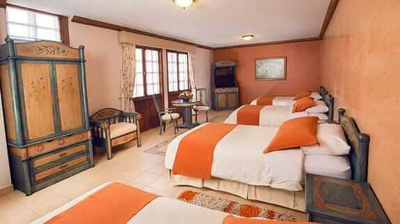 cuadruple room at rincon de puembo quito airport hotel