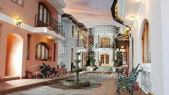 rincon de puembo quito airport hotel - entrance to guest bedrooms