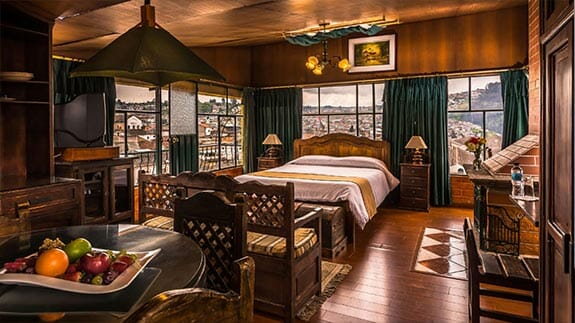 double room with views at hotel san francisco quito ecuador