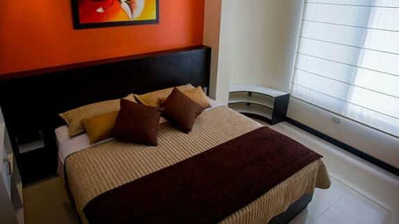 matrimonial bedroom at San Vicente hotel puerto villamil, isabela, galapagos islands