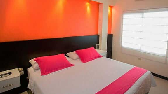 double bedroom at San Vicente hotel puerto villamil, isabela, galapagos islands