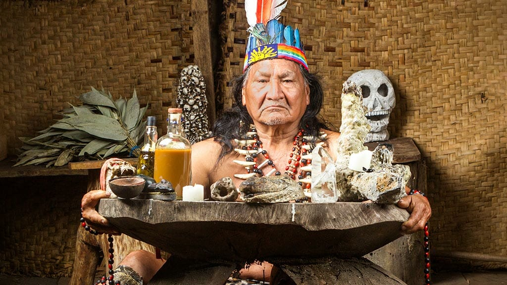 shaman healer in the amazon rainforest