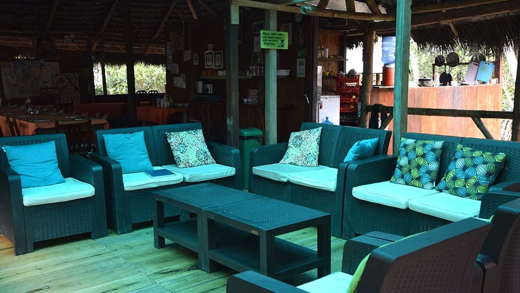 Siona lodge guest social area lounge