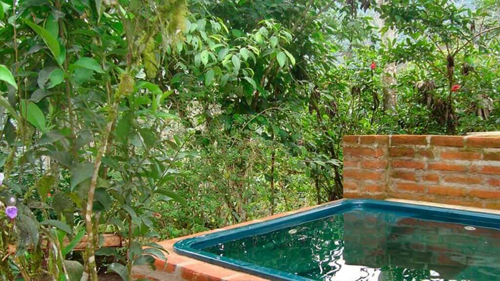 outdoor hot tub at tandayapa lodge ecuador