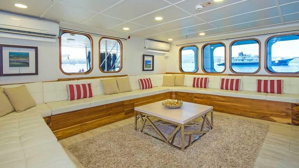 TipTop iv yacht indoor social lounge area
