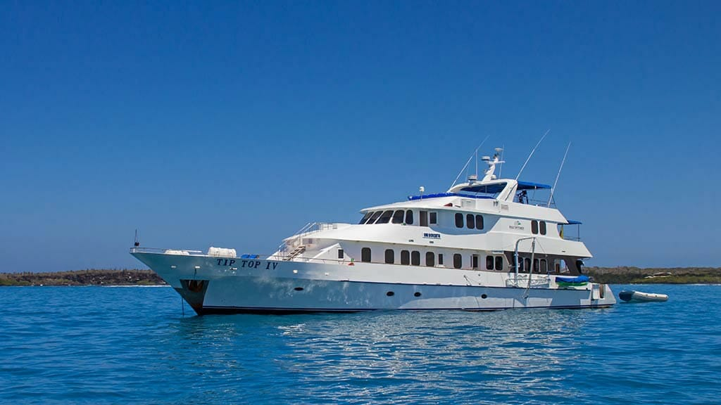 Tip Top 4 yacht anchored at the galapagos islands
