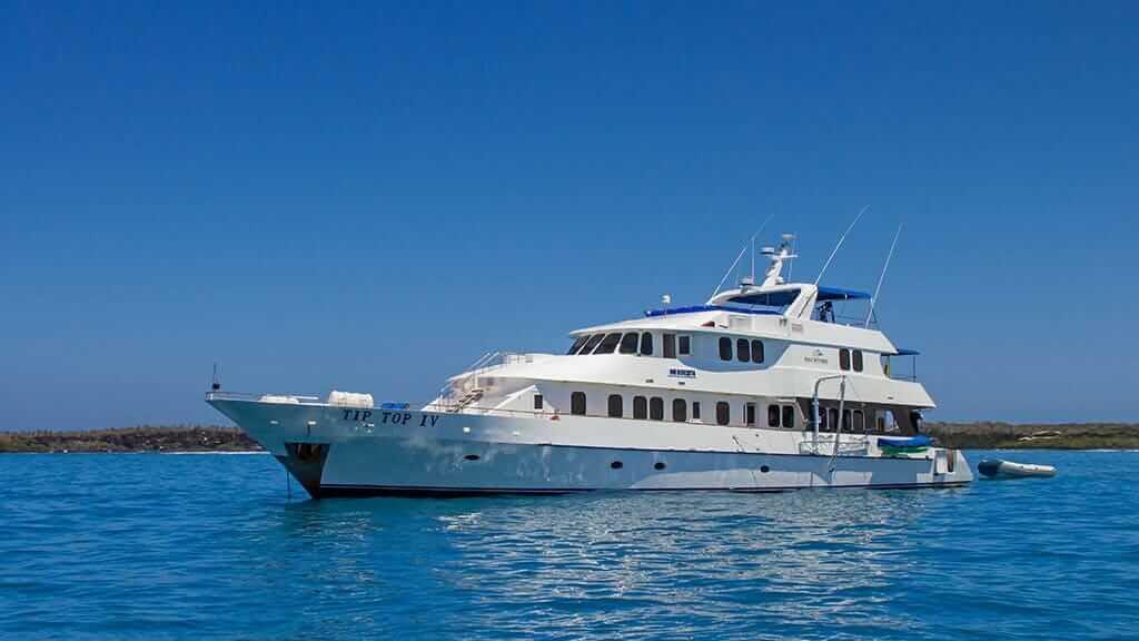 Tip Top 4 yacht anchored at the galapagos islands