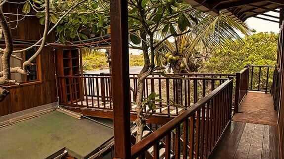 Wooden House Hotel, Puerto Villamil, Isabela, Galapagos - corridor