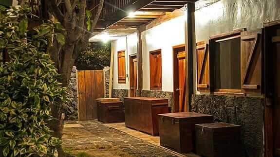 Wooden House Hotel, Puerto Villamil, Isabela, Galapagos - room entrances