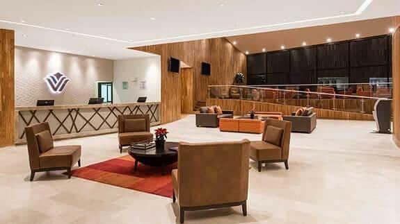 lobby of Wyndham hotel quito airport ecuador